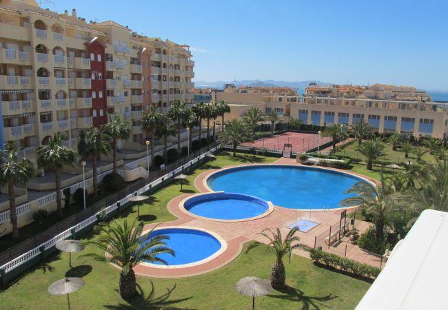 Apartamento en La Manga del Mar Menor - Dos dormitorios con piscina y pista de tenis en Tomás Maestre